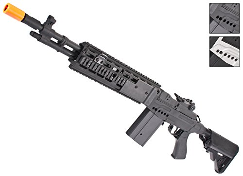 Evike CYMA M14 RIS EBR Custom Full Metal Airsoft AEG Sniper Rifle - Black (Package: Gun Only) - (39970) M14 Metal