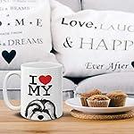 MUGBREW I Love My White Silver Havanese Dog Ceramic Coffee Gift Mug Tea Cup, 11 OZ 12