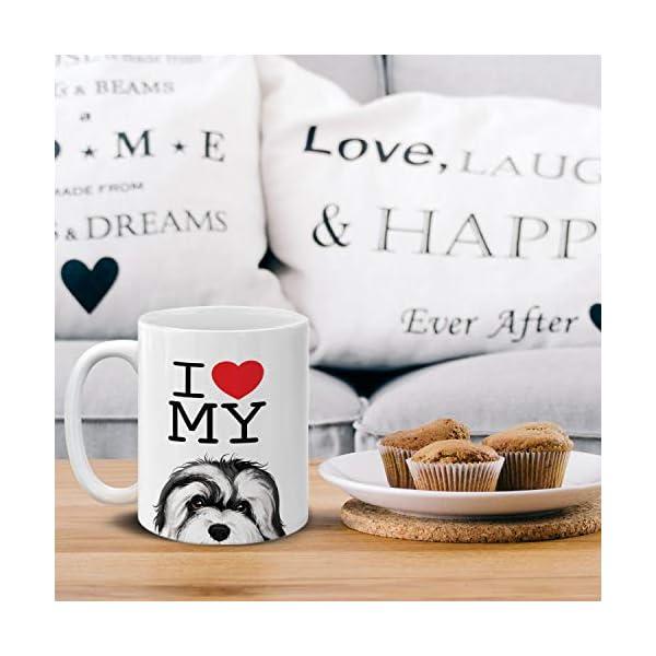 MUGBREW I Love My White Silver Havanese Dog Ceramic Coffee Gift Mug Tea Cup, 11 OZ 5