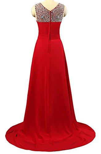 para trapecio Vantexi Vestido Rojo mujer qFTTf6