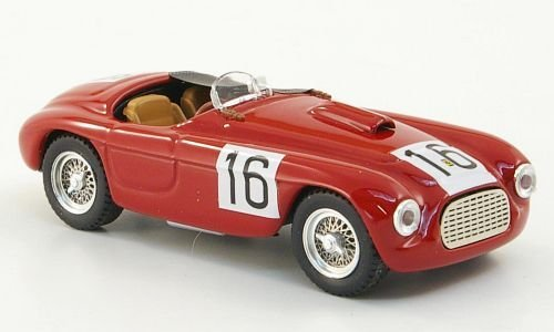 Ferrari 166 Spyder, No.16, Paris, 1950, Modellauto, Fertigmodell, Art Model Model Model 1:43 fa1777