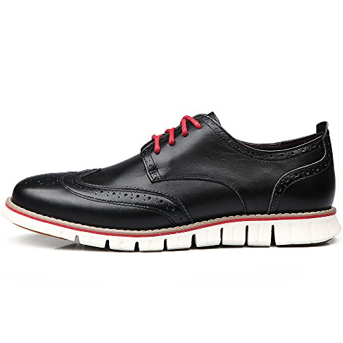 outlet 2014 Laoks Size Upgraded Men's Brogues Oxford Wingtip Genuine Leather Dress Shoes Lace-up Black cheap sale wholesale price shop cheap price discount wholesale purchase online QVDyIrX