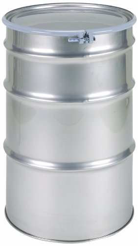 SKOLNIK Stainless Steel Drum, 55 gallons, Bolt Ring, 1.2mm Body Gauge (Pack of 1)