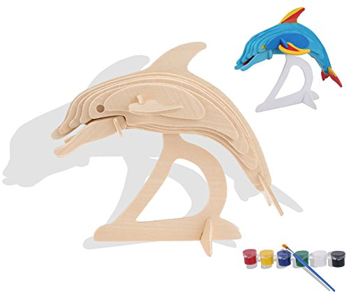 iPuzzle 3D Wooden Puzzle Dolphin Animal  - Wooden Animal Models Shopping Results
