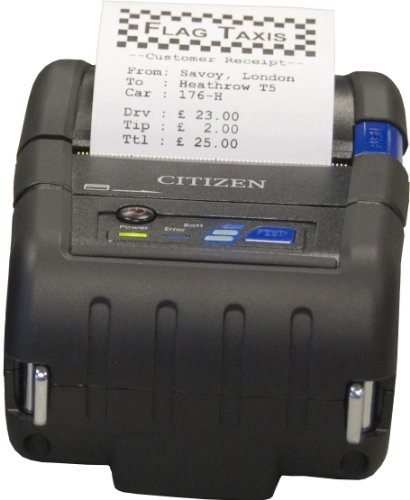 Citizen Receipt Portable Printers - Citizen CMP-20BTU Model CMP-20 Portable Receipt Printer with Bluetooth, 3 LED to indicate battery status, Up to 80 mm (3.1
