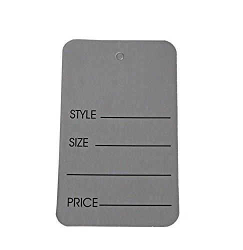 Metronic Price Tags, Perforrated Merchandise Marking Tags, One-Part Paper Tags, 1-1/4 x 1-7/8 - Inches Marking Tags, Pack of 1000 (Silver)