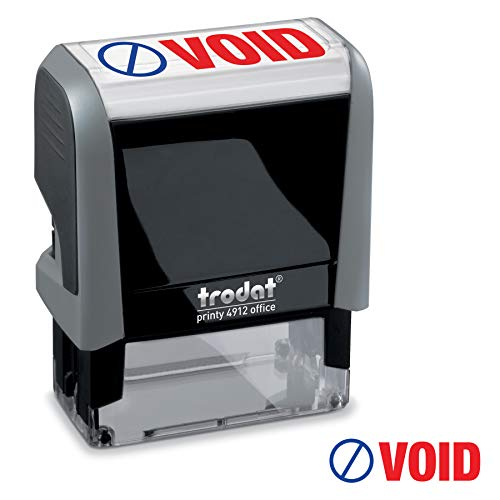 - Void Trodat Printy 4912 Self-Inking Two Color Stock Message Stamp