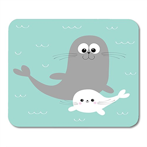 - Nakamela Mouse Pads Sea Lion Harp Seal Pup Cute Cartoon Character Happy Animal Collection Ocean Water Mother and Baby Family Mouse mats 9.5