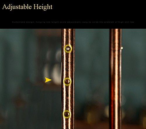 WGX Wine Bar Wall Rack 60 Hanging Bar Glass Rack&Hanging Bottle Holder Adjustable(Bronze)