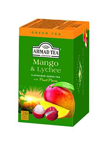 Ahmad Tea Mango & Lychee green tea, 6Count
