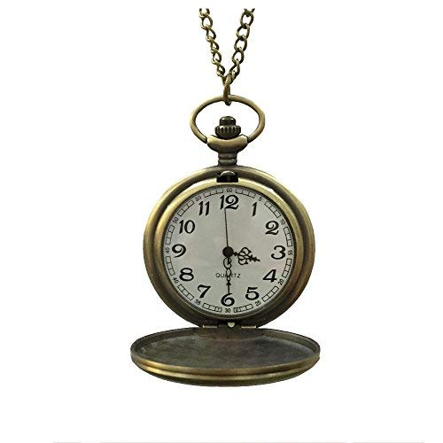 (MAGQOO Classic Smooth Full Hunter Pocket Watch with 31.5