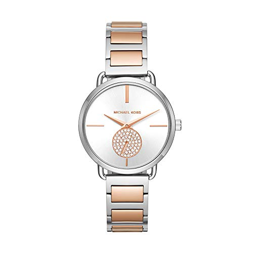 Michael Kors Women's Portia Silver/Rose Gold One Size