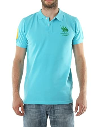 Polo FRANK FERRY Homme ff63 turquoise - -: Amazon.es: Ropa y ...