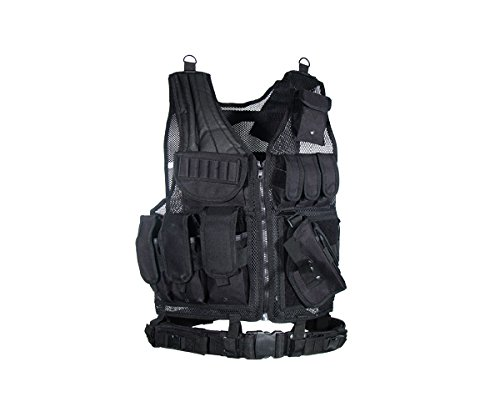 (UTG Sportsman Tactical Scenario Vest, Black)