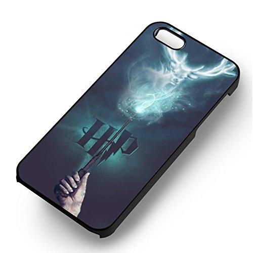 Patronus HP pour Coque Iphone 6 et Coque Iphone 6s Case (Noir Boîtier en plastique dur) J2T7EE