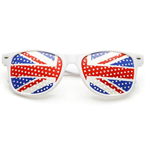 zeroUV - Colorful Horn Rimmed Great Britain UK British Flag Novelty Sunglasses - Sun Glasses Uk