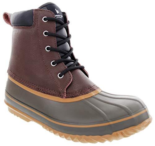 London Fog Mens Ashford Waterproof and Insulated Duck Boot Dark Brown 9 M US