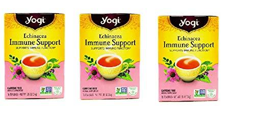 Yogi Tea Echinacea Immune Support, Herbal Supplement, Tea Bags, 16 ct, 3 pk ()