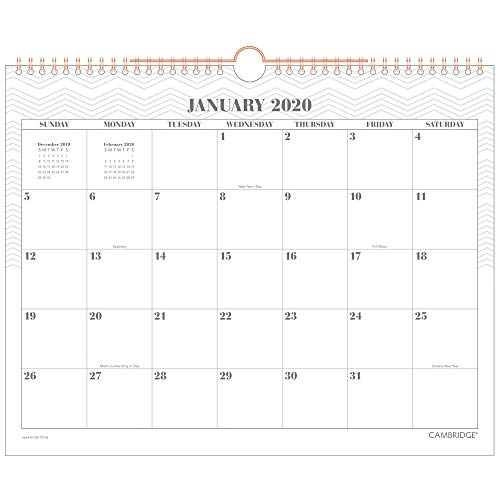Cambridge 2020 Monthly Wall Calendar, 15