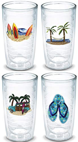 - Tervis 16 Ounces Double Wall Tumblers, Set of 4 (Seaside Collection)