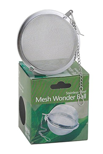 HIC Loose Tea Leaf Strainer and Herbal Infuser, 18/8 Stainless Steel, Mesh Tea Ball, -
