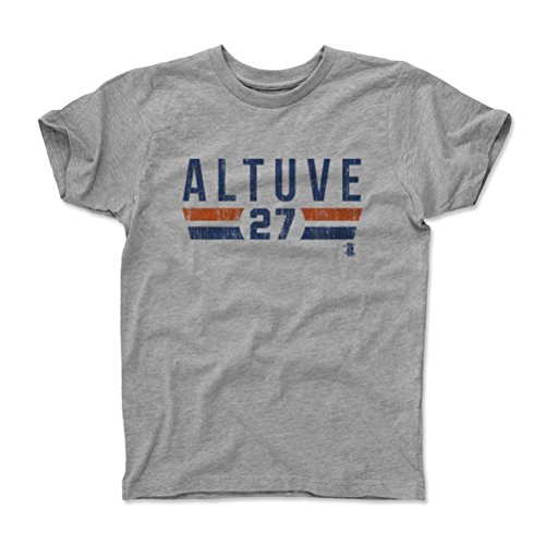 500 LEVEL's Jose Altuve Kids Shirt Youth Small (6-7Y) Heather Gray - Houston Baseball Fan Apparel - Jose Altuve Font B