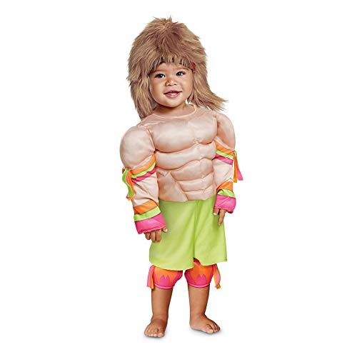 Disguise Ultimate Warrior Infant Muscle Child Costume, Multi Color, (12-18 Months) -