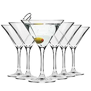 Krosno Bicchieri Cocktail Martini Bar Vetro Coppa | Set di 6 | 150 ML | Elite Collection | Ideale per la casa… 8 spesavip