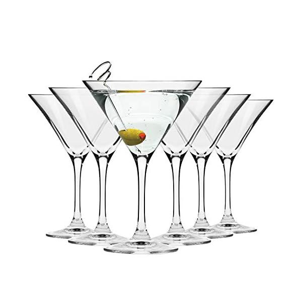 Krosno Bicchieri Cocktail Martini Bar Vetro Coppa | Set di 6 | 150 ML | Elite Collection | Ideale per la casa… 1 spesavip
