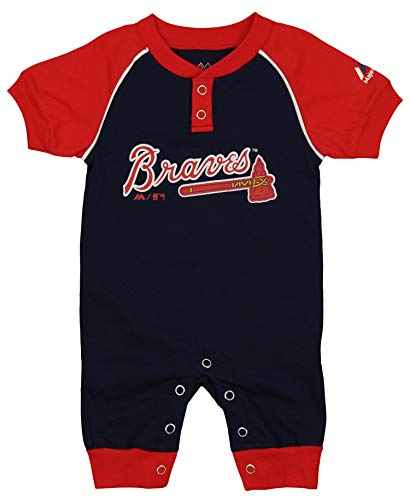 Outerstuff MLB Baby Atlanta Braves Game Time Homerun Coverall, 6-9 Months -