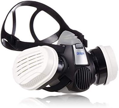 Dräger X-Plore 3300 Semimáscara + filtros ABEK1 Hg P3 RD | Respirador de seguridad para trabajos químicos frente a vapores, conservantes, pesticidas