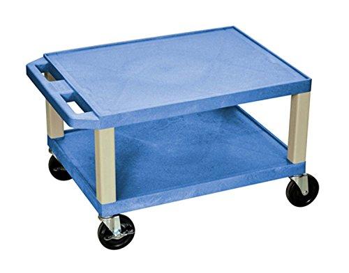 H.Wilson WT16BU 2 Shelves Putty Legs Tuffy AV Cart Blue by Luxor