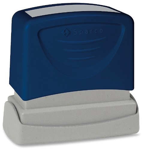 Sparco ORIGINAL Title Stamp, 1-3/4 x 5/8 Inches, Blue Ink (SPR60019)