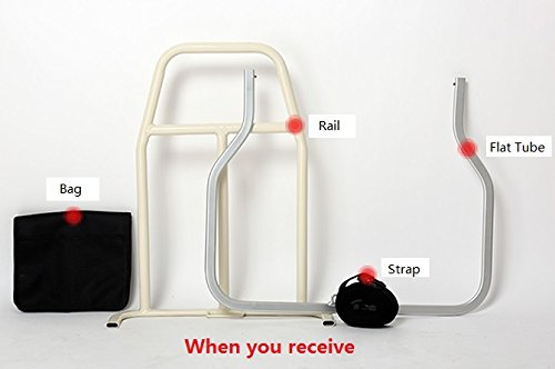 Bed Rail Assist Aid for Seniors Elderly Aged Maternity Pregnant Disabled Weak Injured Postoperative Patients Fracture Lumbar Muscle Strain Sprain Surgery Grandpa Grandma When Get up or Lie Down