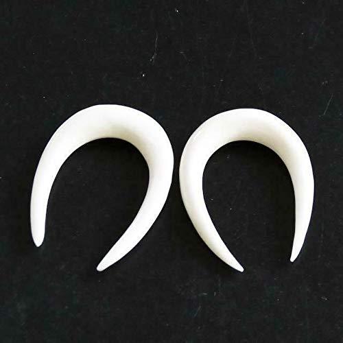 1'' 4.5MM 5-6GA White Bone Hand Carving Maori Tribal Body Jewelry Plug Earrings YE-1533