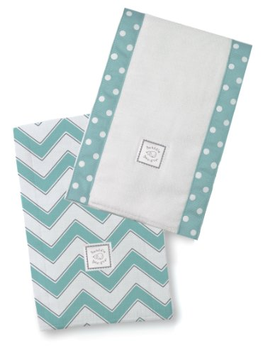 SwaddleDesigns Burpies Cotton Turquoise Chevron product image