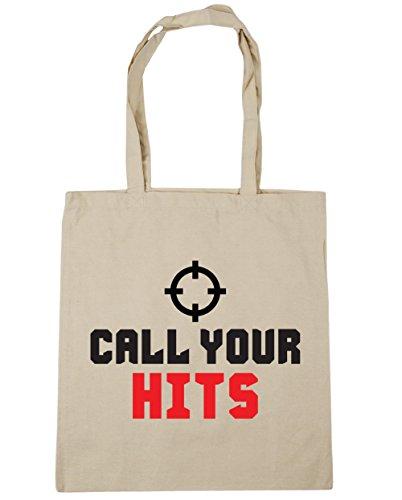 HippoWarehouse Call su Hits Tote Compras Bolsa de playa 42cm x38cm, 10litros Natural