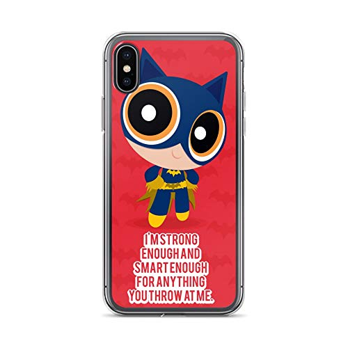 iPhone X/XS Case Anti-Scratch Animated Cartoon Transparent Cases Cover Power Batgirl Cartoons Caricature Crystal Clear ()