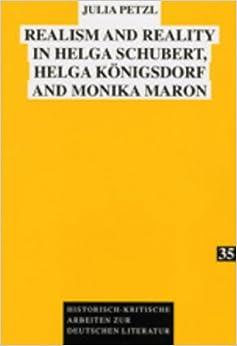 Descargar En Elitetorrent Realism And Reality In Helga Schubert, Helga Koenigsdorf And Monika Maron: 35 PDF Online