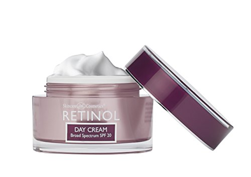 Retinol Day Cream Broad Spectrum SPF 20 – Protects Against Harmful Effects of UVA & UVB Rays – Luxurious Cream Moisturizes & Reduces Look of Fine Lines – Provides Protection From Daily Sun Exposure