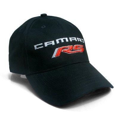 Chevrolet Camaro RS Black Baseball Cap (Camaro Black Chevrolet)