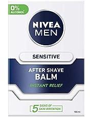 NIVEA MEN Sensitive After Shave Balm, Chamomile & Hamamelis, 100ml
