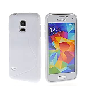 GUANHAO S-Wave Soft Flexible Gel TPU Silicone Etui Back Case Cover For Samsung Galaxy S5 Mini White