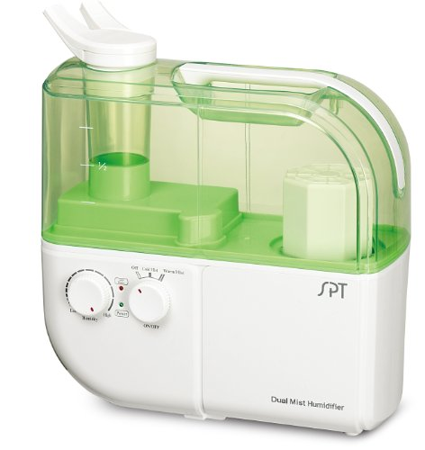 SPT Dual-Mist Ultrasonic Humidifier (Warm/Cool), Green