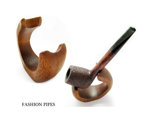 New Natural Wooden Ash Tree Pipe Stand Rack Holder for Tobacco Pipe - Smoking Pipe. Handcrafted by Fashion Pipes