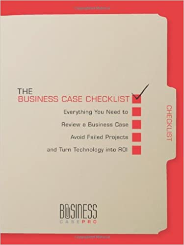 the business case checklist everything you need to review a