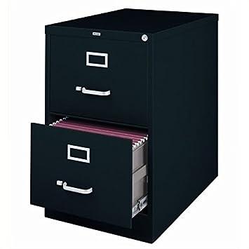 2 Drawer Commercial Legal Size File Finish Black