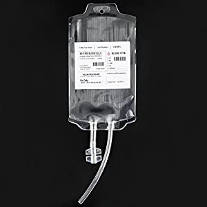"""Live """"Blood"""" Energy Potion for Halloween Parties- AttoPro Reusable Blood Bag Drink Container Set of 10 IV Bags 11.5 Fl Oz, Halloween Party Cups, with Syringe for Fast Filling"""
