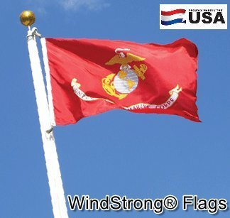 Windstrong® 2x3 FT USMC Marine Corps Best Quality SolarMax