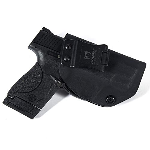 KOBRA Products IWB M&P Shield 2.0 Holster, M&P Shield Concealed Holster for 9 & 40mm Compact, M&P 9mm Holster from Made in USA Kydex, M&P Conceal Carry Holster with Adjustable Cant - Right Hand (40 Kydex Holster M&p)